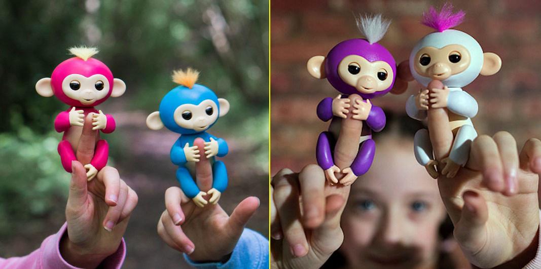 Fingerlings Interactive Baby Finger Monkey White Color