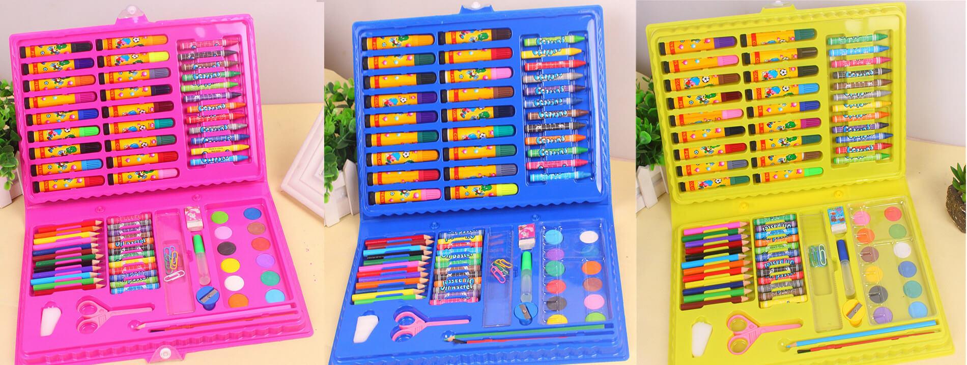 Большой художественный набор из 86 предметов для рисования в чемоданчике